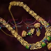 Beautiful Meenakari Enamel Fashion Jewellery AD Stones Haram Gold Plated Online