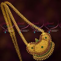 South Indian Gold Plated Jewelry Wholesale Prices Chain Pendant AD Stones