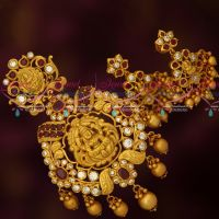 Ruby White AD Chillai Temple Jewellery Big Pendant Earrings Shop Online