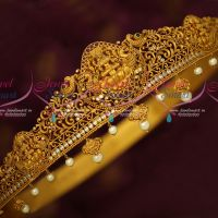 Bridal Oddiyanam Gold Plated Matte Reddish Finish Latest Jewellery Temple Designs Shop Online