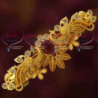 Ruby AD Stones Antique Finish Polki Hair Clips Latest Jewellery