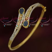 Sapphire Blue AD Stones Two Tone Gold Silver Plated Bracelets Online