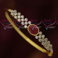 Ruby Red White AD Stones Two Tone Gold Silver Plated Bracelets Online