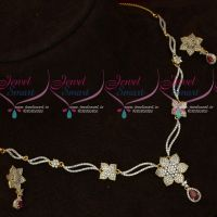 Thin Delicate Diamond Design Imitation Jewellery Short Necklace Set