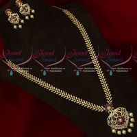 Sparkling AD Jewellery Long Necklace Traditional Designs Online