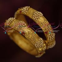 Antique Jewellery Beautiful Looking Pearl Kada Bangle Trendy Artificial Collections