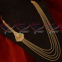 South Indian Gold Covering Multi Strand Beads Necklace Wholesale Prices Shop Online