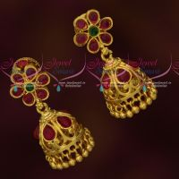 Kemp Jewellery Daily Wear Jhumka Earrings Latest Gold Covering Imitation