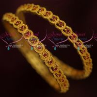 Gold Plated Ruby Bangles Latest Design Wholesale Prices Online