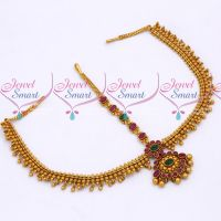 Bridal Jewellery Reddish Gold Plated Chain Damini Latest Wedding Collections