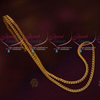 Latest Matte Reddish Gold Plated 18 Inches Chains For Pendants