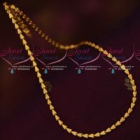 Triangle Shape Design Matte Reddish Gold Plated 18 Inches Chains