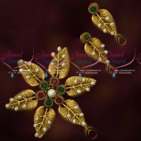 Ruby Emerald Antique Premium Imitation Jewellery Gold Design Pearl Hand Setting Collections