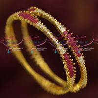 AD Marquise Stones Gold Plated Party Wear Bangles Shop Online