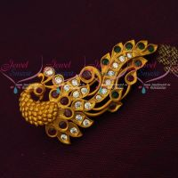Latest Jewellery Accessory Saree Brooches Matte Antique AD Stones