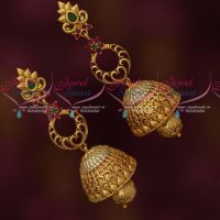 Antique Long Size AD Jhumka Latest Trendy Fashion Jewellery Designs Shop Online