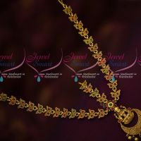 Traditional Antique Gold Plated Temple Jewellery Kemp Bridal Damini Latest Imitation