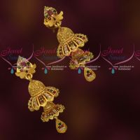 Double Step Fancy Jhumka AD Stones Jewellery Latest Trendy Collections Online