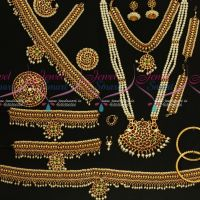 Classical Bharathanatiyam Dance Jewellery Set Multi Colour Stones Traditional Low Price Ornaments.