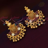 Daily Wear Gold Plated South Screw Earrings Latest Imitation Jewellery Designs