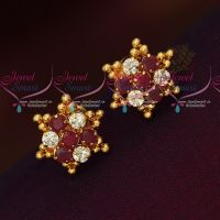 American Diamond Stones Daily Wear Gold Covering Imitation Earrings Online