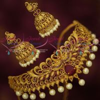 Antique Bridal Jewellery Ruby Stones Choker Latest AD Stones Party Wear Designs