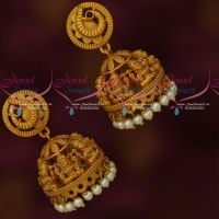 Temple Jewellery Matte Gold Plated Latest Traditional Design Jhumka Earrings