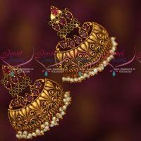 Kemp Stylish Half Jhumka Pearl Drops Broad Fancy Design Collections