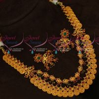 Temple Jewellery Intricately Designed Layer Coin Necklace Gold Design Antique Jewellery