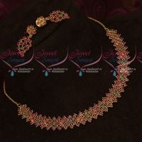 Ruby Emerald Stones Necklace Party Wear Imitation Jewellery Latest Design
