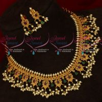 Traditional Pearl Jewellery Gutta Pusalu Necklace South Indian Design Imitation Online