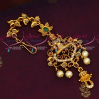 Antique Temple Jewellery Matte Gold Plated Maang Tikka New Designs