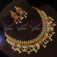 Antique Pearl Jewellery Gutta Pusalu Necklace South Traditional Design Imitation Online
