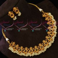 Lord Ganapathy Temple Jewellery Matte Antique Traditional Imitation Designs
