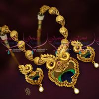 One Gram Gold Plated Beautiful Real Look Intricate Peacock Design Jewellery Online Best