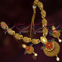 One Gram Gold Plated Beautiful Real Look Intricate Design Jewellery Online