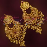 One Gram Gold Temple Jewellery Screwback Earrings Traditional Designs