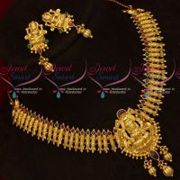 One Gram Gold Real Look Intricately Designed Temple Traditional Jewellery Set