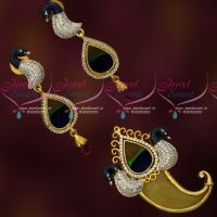 Forming Gold Plated Tiger Nail Design Traditional Pendant Earrings Latest CZ Jewellery Buy Online