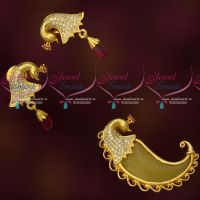 Gold Plated Tiger Nail Design Traditional Pendant Earrings Latest CZ Jewellery Buy Online