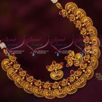 Intricately Designed Temple Jewellery Antique Matte Look Gold Design Collections