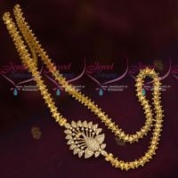 Peacock Mugappu Design Fancy Gold Covering South Chain Imitation Collections