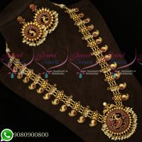 Wholesale Price Peacock Design Traditional Mango Haram Gold Look Traditional Jewellery Designs