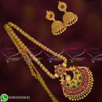 Gold Plated Jewellery Daily Wear Chain Pendant Jhumka New Designs Online