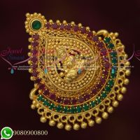 Temple Design Single Open Hook AD Stones Pendant Hair Decoration Jada Billa
