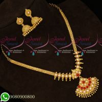 Gold Plated Coral Pearl Attiga Traditional Daily Wear Jewellery Collections