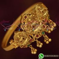Temple Jewellery Matte Look Kada Bangles Screw Open Traditional Designs