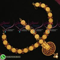 Temple Kemp Jewellery Coin Engraved Design Damini Bridal Matha Patti Online