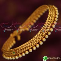 Anklets Matte Gold Plated Fashion Jewellery Latest Antique Finish Matching Accessory Online