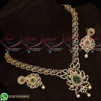 Gold Plated AD Stones Jewellery Set Designs Latest Party Wear Collections Online